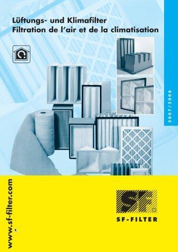 Lüftungs- und Klimafilter Filtration de l'air et de la climatisation www ...