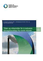 Tiltak innen landbasert industri - Klimakur 2020