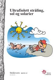 Ultrafiolett stråling, sol og solarier - Statens strålevern