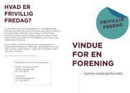 VINDUE FOR EN FORENING - Frivillig Fredag