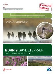 Drifts- og plejeplan for Borris Skydeterræn - Forsvarskommandoen