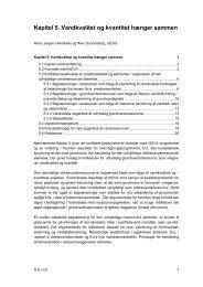 Kapitel 5. Vandkvalitet og kvantitet hænger sammen - National ...