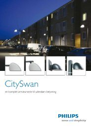 CitySwan - en komplet armaturserie til udendørs belysning - Philips