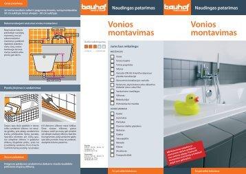 Vonios montavimas Vonios montavimas - Bauhof