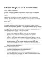 Referat af dialogmøde den 26. september 2011 - Falster Golfklub
