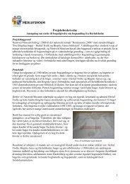 Projektbeskrivelse - Herlufsholm