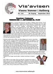Hent September udgaven af Visavisen (Klik her) - Visens venner i ...