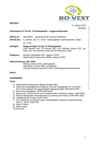 Referat 12. oktober 2012 - Hyldenet