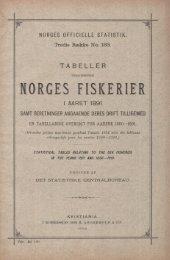 Tabeller vedkommende Norges Fiskerier i aaret 1891. Samt ...