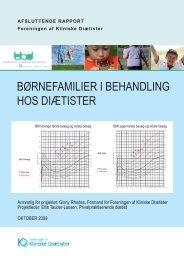 Børnefamilier i Behandling hos diætister - Foreningen af Kliniske ...
