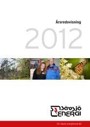SEAB årsredovisning slutlig 2012 - Sävsjö Energi AB - Sävsjö ...