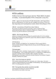 Paulina Rytkönen - Förkortningar WTO - Stockholm Resilience Centre