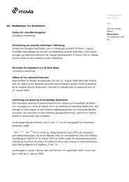 Meddelelser fra direktionen - Movia