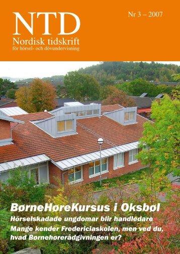 BørneHøreKursus i Oksbøl - Norsk Audiopedagogisk Forening