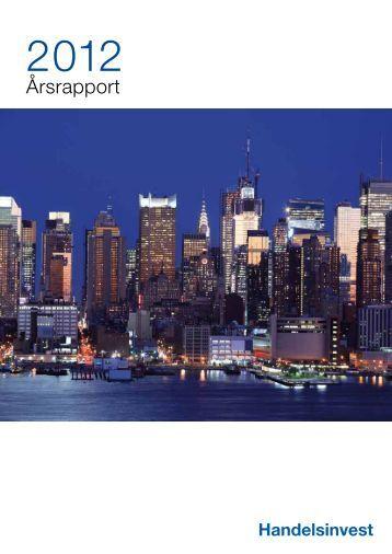 Handelsinvest Årsrapport 2012 inkl ... - GlobeNewswire