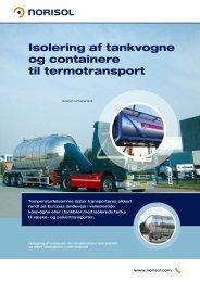 Isolering af tankvogne og containere til termotransport - Norisol