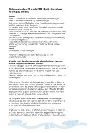 Referat fra dialogmøde den20. marts 2012 - Faxe Kommune