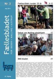 FOR BEDER • MALLING • AJSTRUP Fællesrådet runder 25 år 3-15 ...