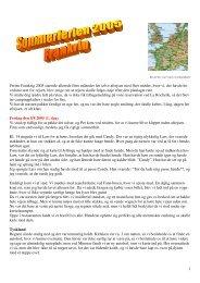 Dagbog 1 Beskrivelse af vores sommertur 2005 til ... - thomsen site