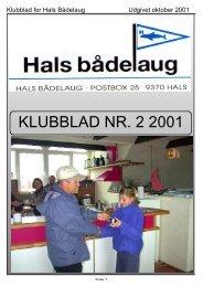 KLUBBLAD NR. 2 2001 - Hals bådelaug