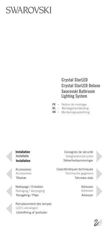 Swarovski Bathroom Lighting System Crystal StarLED Deluxe ...