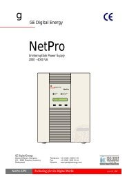 USER MANUAL NetPro 2000-4000 UPS - Metric
