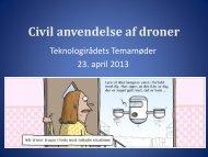 Civil anvendelse af droner - Jacob Skjødt Nielsen - Teknologirådet