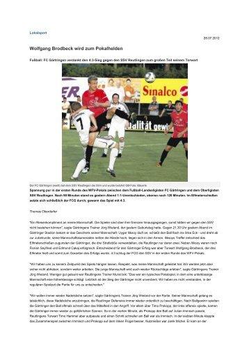 Wolfgang Brodbeck wird zum Pokalhelden - FC Gärtringen