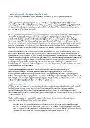 Læs artiklen Pædagogens ændrede professionelle praksis - Bupl