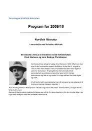 Program for 2009/10 - Foreningen Norden Holstebro