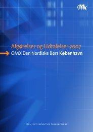 Afgørelser og Udtalelser 2007 - Nasdaq OMX