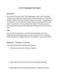 To Kill A Mockingbird Web Quest - WordPress.com