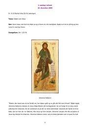 4. søndag i advent 20. december 2009 1 Kl. 19.30 Burkal Kirke (De ...