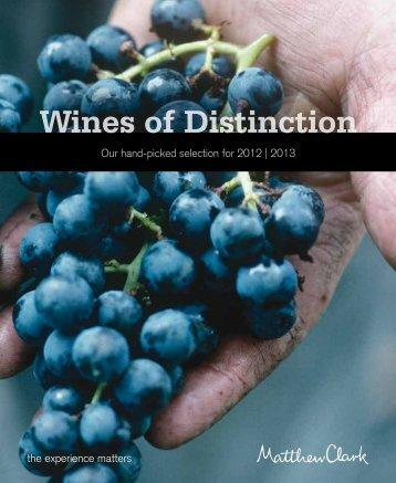 Wines of Distinction - Matthew Clark