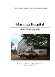 Masanga Hospital - Aarhus Maskinmesterskole Campus