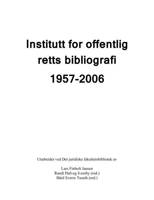 (pdf). - Det juridiske fakultet - Universitetet i Oslo