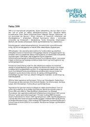 Hent og læs faktaark om 3XN - Bygningsfonden Den Blå Planet
