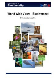 World Wide Views on Biodiversity – Information Material for Citizens