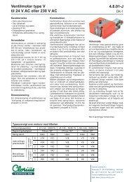 Ventilmotor type V, clorius 4.8.01 DK - Clorius Controls
