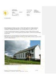 Forsamlingshuset Vonheim, gnr/bnr.: 50/18, 50/5 ... - Riksantikvaren