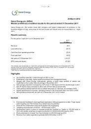 20 March 2012 Genel Energy plc (GENL) Maiden preliminary ...