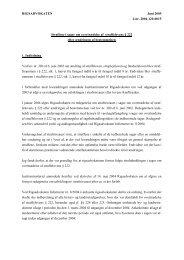 Rigsadvokatens redegørelse om straffene i sager om overtrædelse ...
