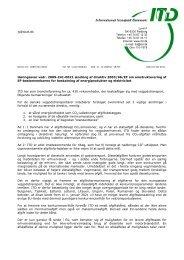 Høringssvar vedr. 2009-241-0021 ændring af direktiv 2003/96 ... - ITD