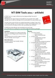 NTI BIM Tools 2011 – arkitekt - NTI CADcenter
