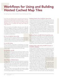 Workflows for Using and Building Hosted Cached Map Tiles ... - Esri