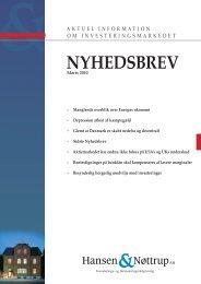 NYHEDSBREV - Hansen & Nøttrup