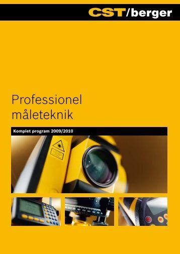 CST/berger - professionel måleteknik