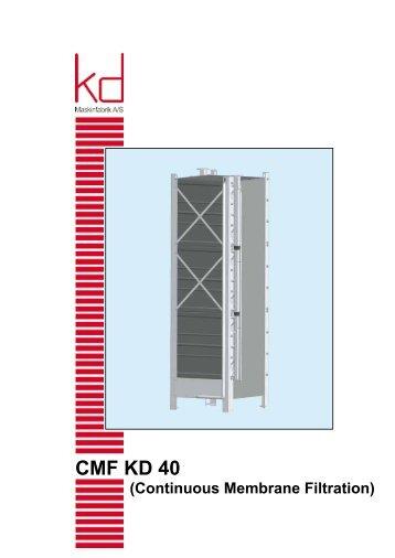 Download brochure CMF KD 40 Continous Membrane Filtration