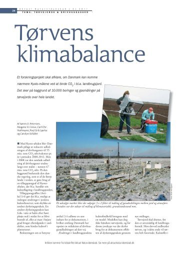 Tørvens klimabalance - Aktuel Naturvidenskab