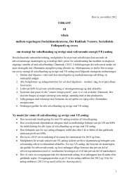 UDKAST til Aftale mellem regeringen (Socialdemokraterne, Det ...